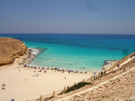 Krásné pláže El Alameinu